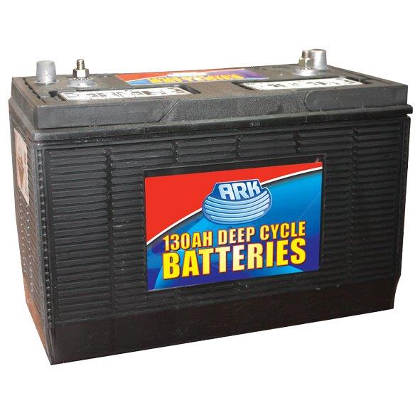 Ark Heavy Duty 130Ah deep cycle, lead acid battery, 200RC Mins. @ 25Amps, standard terminals. High...