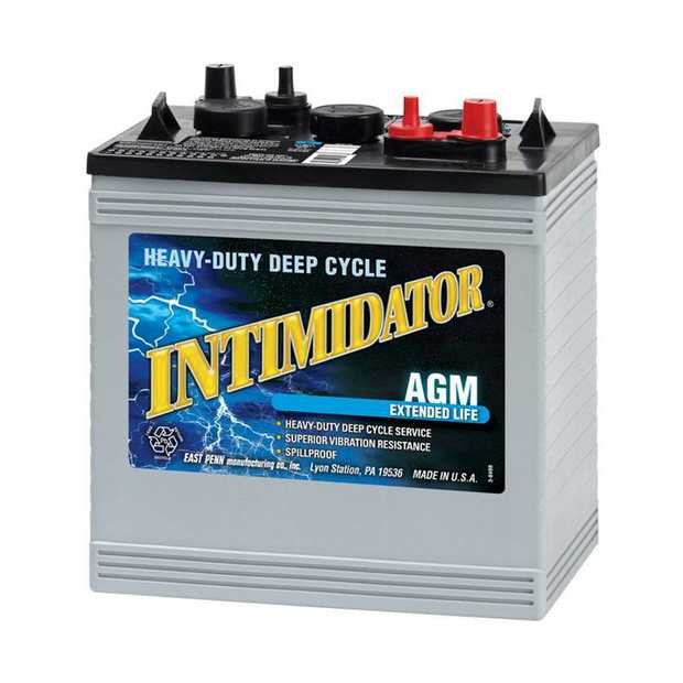 8AGC2 Dual Purpose (DP) Intimidator Marine / RV BatteryNote: EVG6A-ASpecification:CCA680Ah C20187RC...