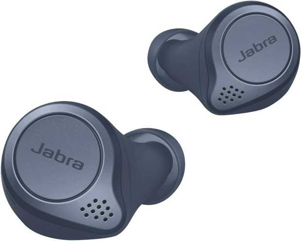 These Jabra headphones are in-ear headphones. Their earbud design lets you bring them with you in a...