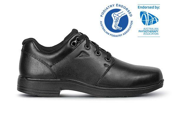 The Ascent Prospect is a durable leather school shoe, built for both comfort and support. The orthotic...