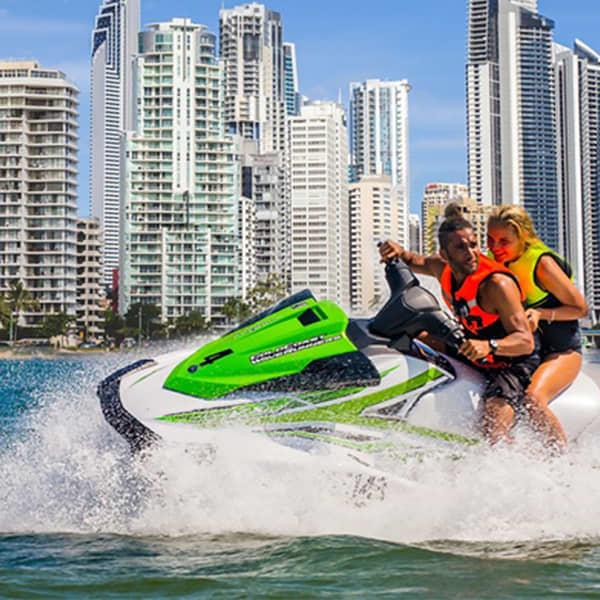 What better way to see the glorious white sands of the Gold Coast than by zipping around on a jet ski!