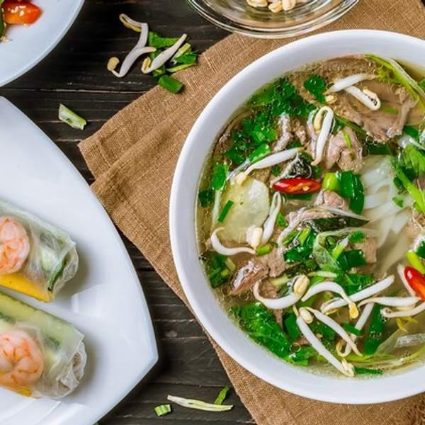 Dine on vibrant Vietnamese fare with a lunch or dinner feast overflowing with inclusions at Fee Fi Pho...