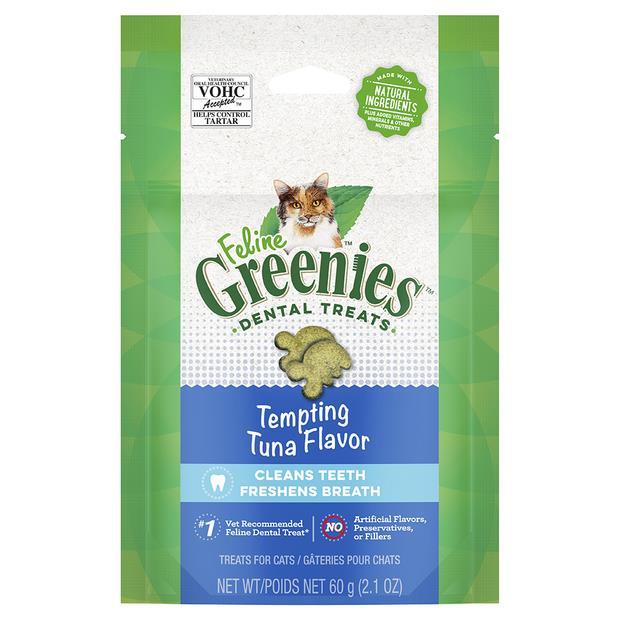 Greenies Cat Treats Dental Tempting Tuna Flavour 60g Pet: Cat Category: Cat Supplies  Size: 0.6kg  Rich...