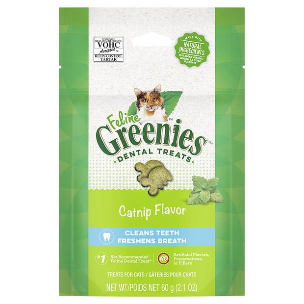 Greenies Cat Treats Dental Catnip Flavour 60g Pet: Cat Category: Cat Supplies  Size: 0.6kg  Rich...
