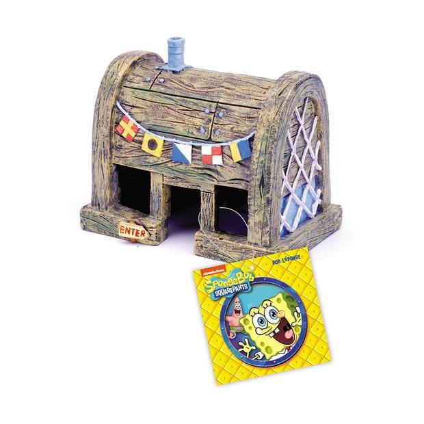 Penn Plax Spongebob Squarepants Krusty Krab Home Ornament Each Pet: Fish Category: Fish Supplies  Size:...