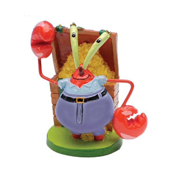 Penn Plax Spongebob Squarepants Mr Krabs Mini Resin Replica Each Pet: Fish Category: Fish Supplies ...