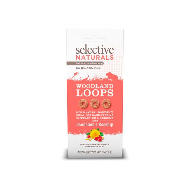 Selective Naturals Woodland Loops Guinea Pig 80g Pet: Small Pet Category: Small Animal Supplies  Size:...