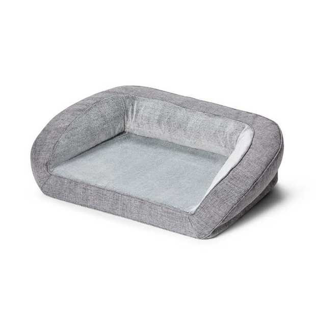Snooza Ortho Sofa Dog Bed Grey Soho its where your dog can lounge and lay in luxury. The base of the...