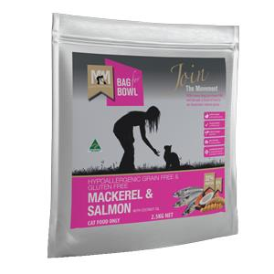 Meals for Mutts Mackerel & Salmon Grain Free Cat Dry Food 2.5kg is hypoallergenic, grain-free...
