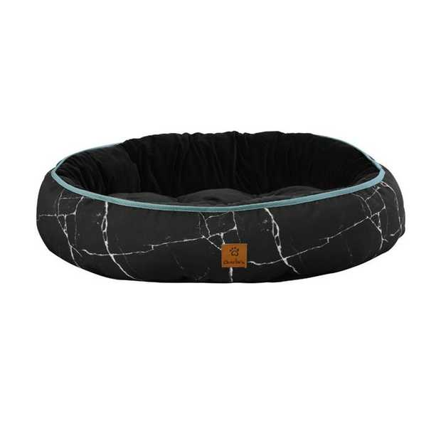 Give your furry friend a funky, comfy and cosy bed with the Charlie's Funk Nest Black Marble Dog Bed.