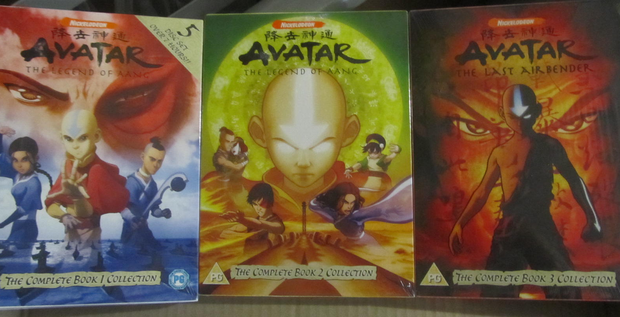 The Nickelodeon TV series, Avatar, The Legend of Aang and The Last Air Bender. Three complete box sets.