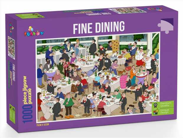Its all about people, tables, and food with the Fine Dining Jigsaw puzzle. If you missed eating out and...