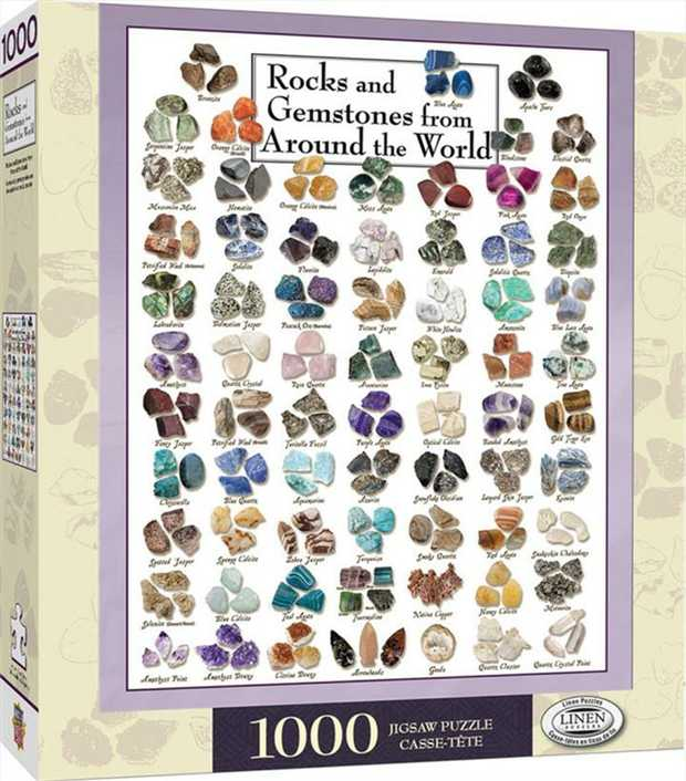 This 1000pc Puzzle of Rocks and Gemstones around the World is the perfect souvenir to puzzle and plan...
