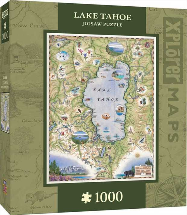 Xplorer Maps connect people and places one map at a time! This 1000pc Puzzle of Lake Tahoe is the...