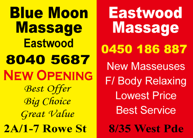 Eastwood Blue Moon Massage - Brand New Shop - Relax ! Relax ! 