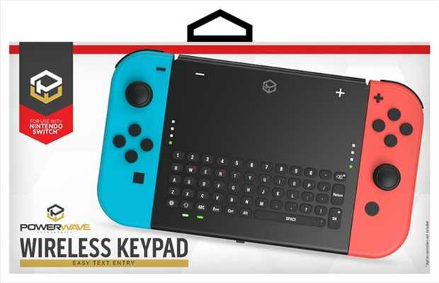 The Powerwave Switch Wireless Keypad provides a convenient and easy way to chat and enter text in your...
