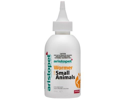 ARISTOPET SMALL ANIMAL WORMER 125MLAristopet Small Animal Wormer is a pleasant tasting and palatable...