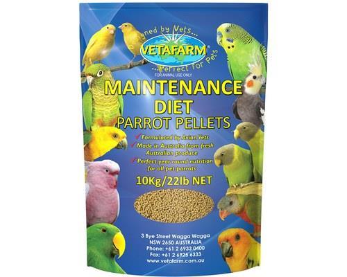 VETAFARM PARROT PELLET MAINTENANCE 10KGThe Maintenance Parrot Pellets are used to provide your parrot...