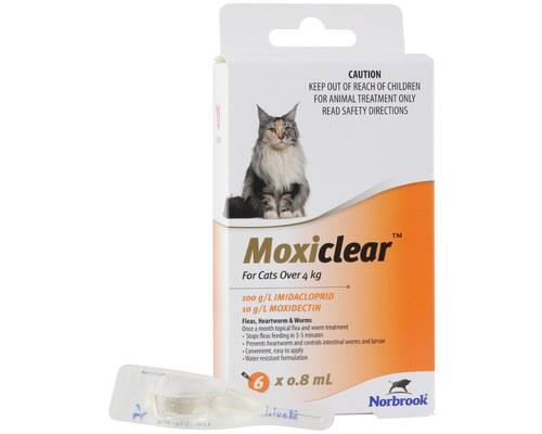 MOXICLEAR FOR CATS OVER 4KG 6 PACKMoxiClear is formulated for cats over 4kg. This is an all-in-one...
