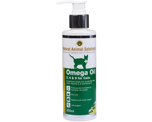 NATURAL ANIMAL SOLUTIONS OMEGA 3 6 9 OIL FOR CATS 200MLAs humans, we consume Omega 3, 9 and 9 oils to...