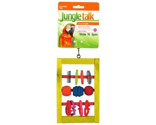 JUNGLE TALK SLIDE N SPIN MEDIUMSlide N Spin Medium is made from acrylic and plastic pieces which sit...