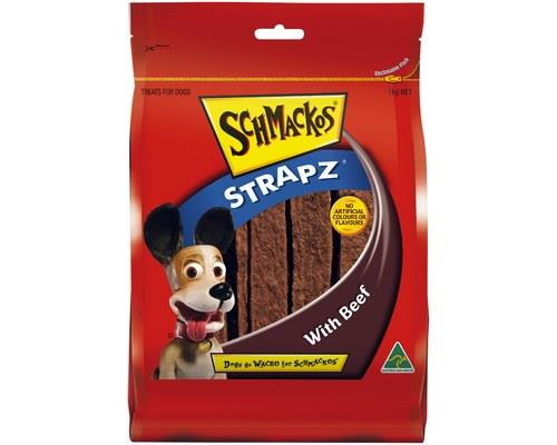 SCHMACKOS STRAPZ BEEF 1KGSchmacko's Strapz are the perfect treat for your pet. These Australian...