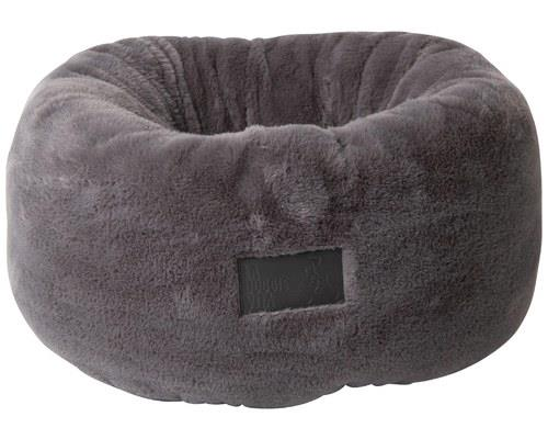LA DOGGIE VITA DONUT PLUSH CAT BED GREYDonuts are delicious, but they also make great cat beds!
