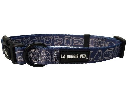 LA DOGGIE VITA LEAD CENTRAL INDIGO MEDIUMHot dog! Your pup will look great with this new indigo dog...