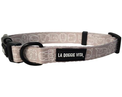 LA DOGGIE VITA COLLAR CENTRAL TAUPE SMALLIt's a dog-eat-dog world out there and you've got to dress to...