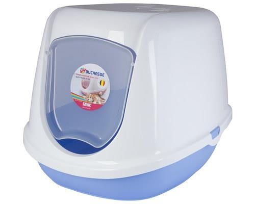SAVIC DUCHESSE KITTEN HOODED TOILET WHITE BLUEThe Duchesse Kitten Hooded Toilet is a discrete and...
