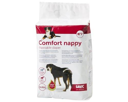 SAVIC COMFORT NAPPY SIZE 7 - 12 PACKIf your dog is soiling the carpets, it can be hard to know what to...