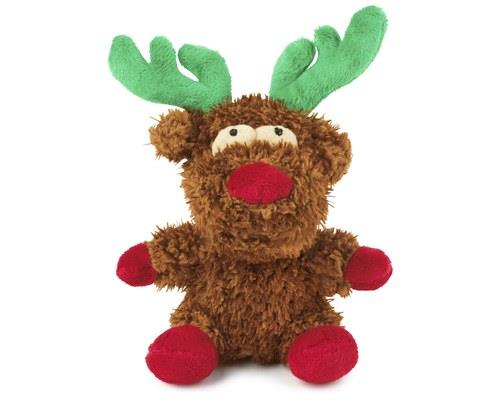 FuzzYard Dog Toy, X-Mas Reindeer, SmallSize: 17cm L x 14cm L'Tis the season to be jolly and chew...