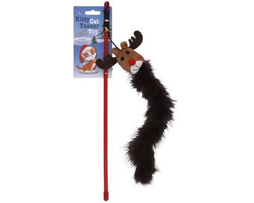 K9 HOMES MOOSE HEAD CAT TEASER STICKWhat better way to celebrate the festive season than to claw the...