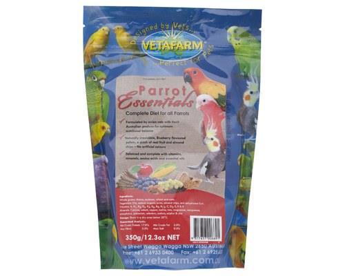 VETAFARM PARROT ESSENTIALS 350GVetafarm Parrot Essentials is the bird food that satisfies all year...