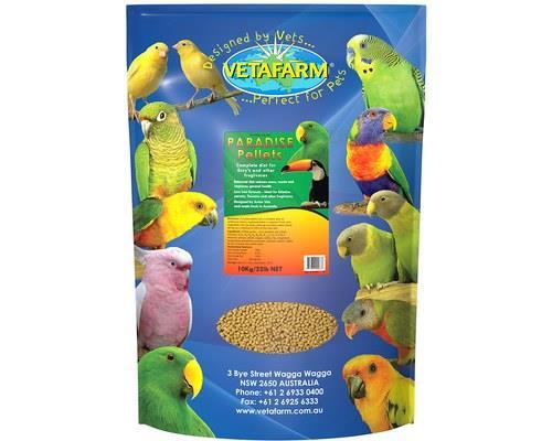 VETAFARM PARADISE PELLET 10KGVetafarm Paradise Pellets are made to provide your bird with a completely...