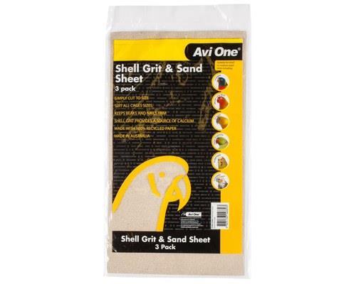 AVI ONE SHELL GRIT AND SAND SHEET 3PKBeen looking for a sand sheet and shell grit combo for your bird...