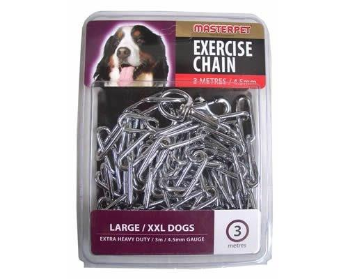 MASTERPET EXERCISE CHAIN 3M/4.5MMThe Master Pet Exercise Chain allows dogs to exercise with safe...
