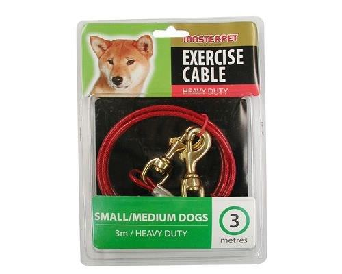 MASTERPET TIE OUT CABLE 3MThe Master Pet Tie Out Cable allows dogs to exercise with safe restraint with...