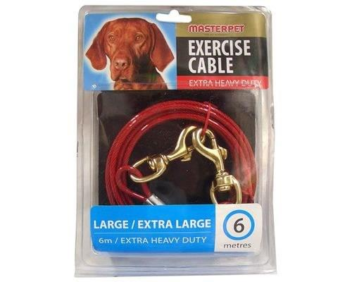 MASTERPET TIE OUT CABLE 6MThe Master Pet Tie Out Cable allows dogs to exercise with safe restraint with...