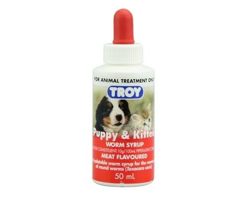 IndicationsA palatable meat flavoured syrup for the removal of roundworms in puppies, kittens, adult...