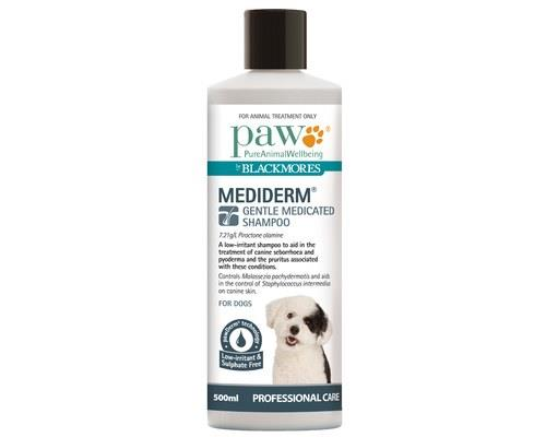 Paw Mediderm Shampoo for Dogs, 500mlThis medicated dog shampoo is a low-irritant shampoo that is...