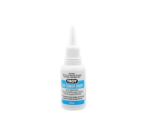 Troy Ear Canker Drops for Dogs, 20mlA dog ear infection can be irritating both for pet and owner. These...