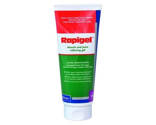 RAPIGEL 200G TUBERapigel is an ideal Muscle and Joint Relieving Gel suitable for use on horses and...