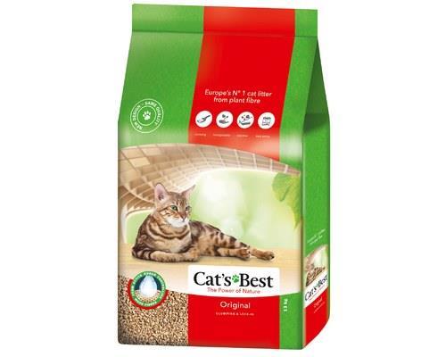 CATS BEST OKO PLUS LITTER 13KGClumping organic cat litter from 100% naturallyorganic fibres.