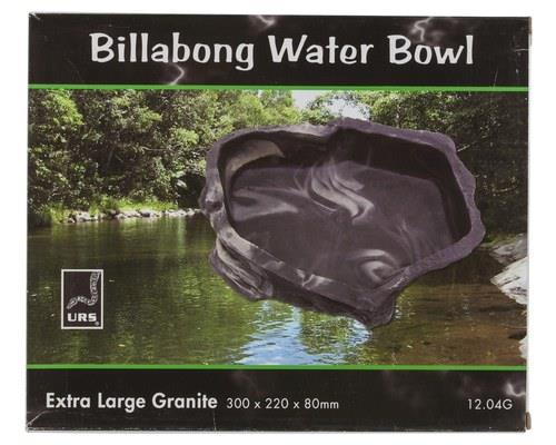 EXTRA LARGE BILLABONG WATER BOWL (GRANITE). Size = 300 x 220 x 80mm Water vol. = 1.75 Litres. The all...