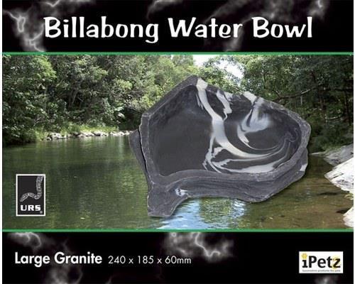LARGE BILLABONG WATER BOWL (GRANITE). Size = 240 x 185 x 60mm Water vol. = 900ml The Billabong Water...
