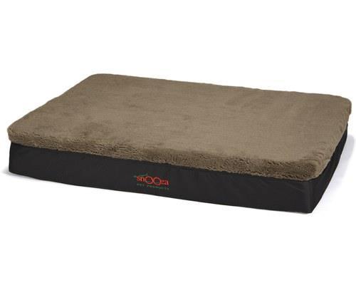 Snooza Big Dog Memory Foam Dog Bed, Mock Brown Lambswool, One SizeSize:130cm L x 88cm W x 19cm...