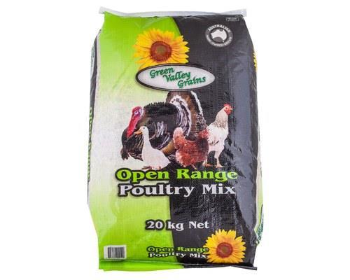 GREEN VALLEY GRAIN PREMIUM OPEN RANGE POULTRY MIX  20kg...