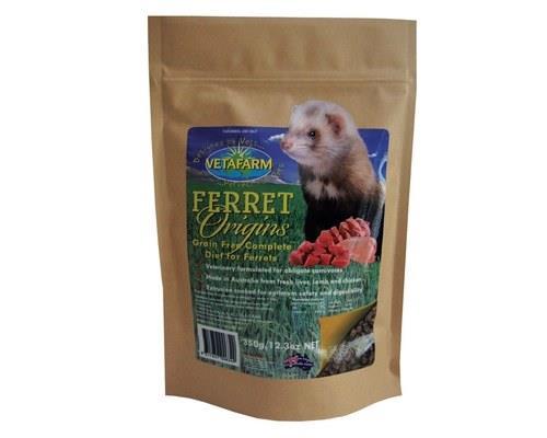 Vetafarm Ferret Origins Ferret Food, 350gFerret Origins is a completely balanced extruded pellet ferret...