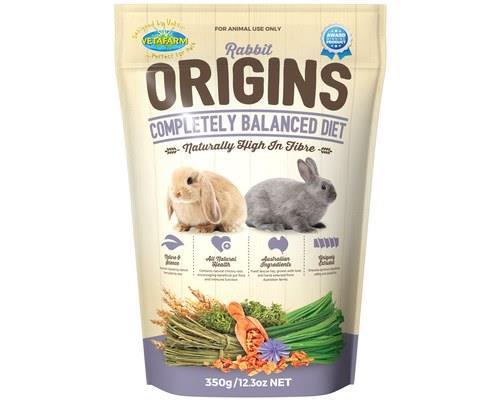Vetafarm Rabbit Origins Rabbit Food, 350gRabbit Origins is a completely balanced extruded pellet rabbit...